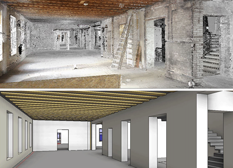 THE LASER SCANNING TO MODEL EXISTING BUILDINGS