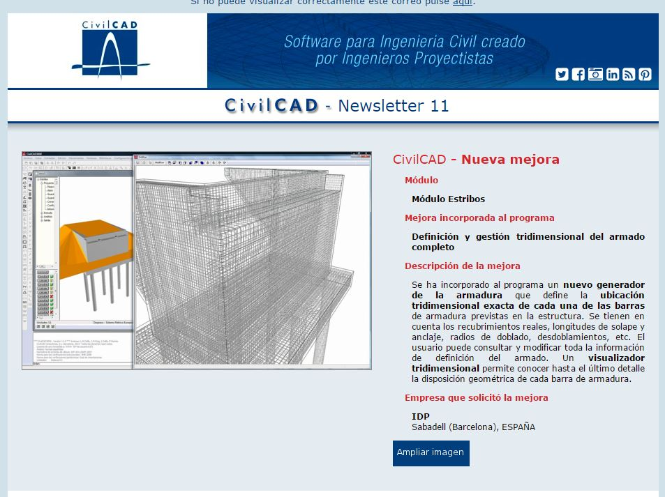 CIVILCAD INTRODUCES A NEW IMPROVEMENT PROPOSED BY IDP
