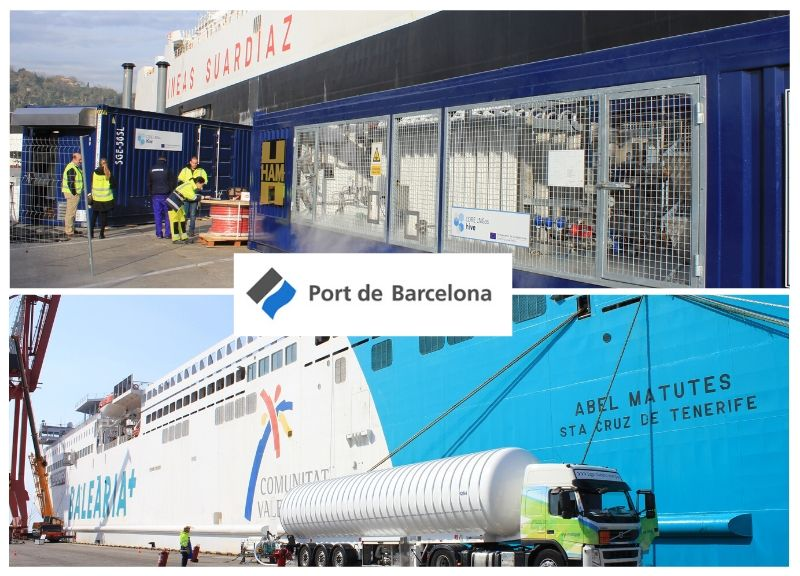 IDP renews the technical assistance of LNG pilot projects in the Port of Barcelona
