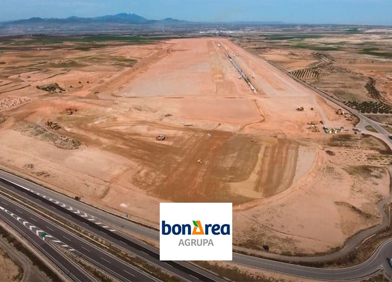 Work on the new bonÀrea Agri-Food Park in Épila (Zaragoza) is progressing at a good pace